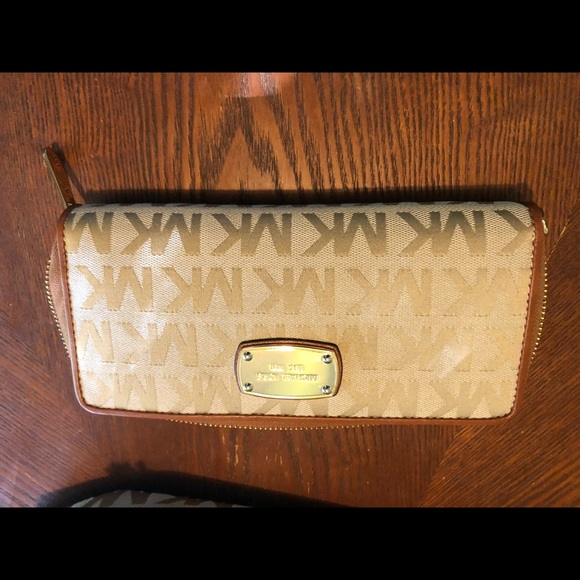 Michael Kors Handbags - MK Brown and Tan Wallet